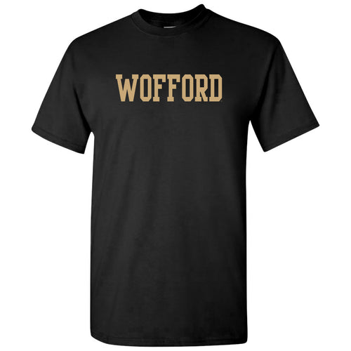 Wofford College Terriers Basic Block T Shirt - Black