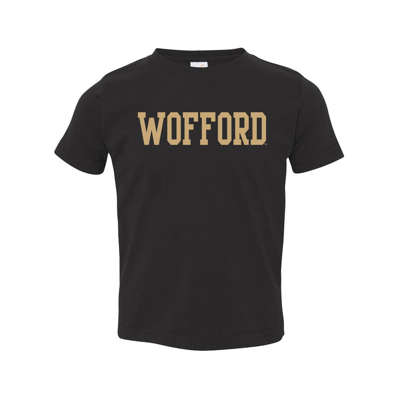 Wofford College Terriers Basic Block Toddler T Shirt - Black