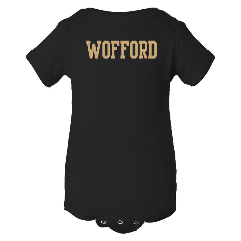 Wofford College Terriers Basic Block Infant Creeper - Black
