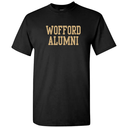 Wofford College Terriers Alumni Basic Block T Shirt - Black