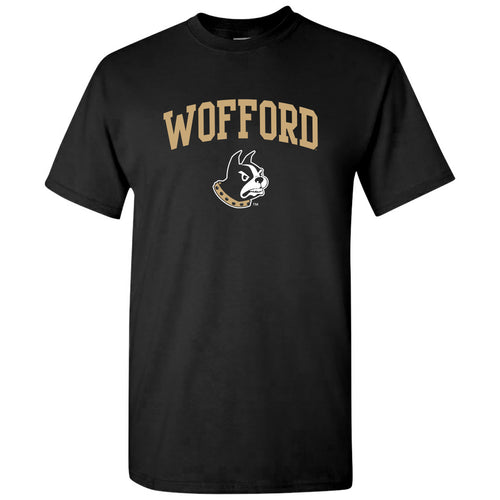 Wofford College Terriers Arch Logo T Shirt - Black
