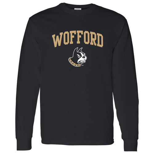 Wofford College Terriers Arch Logo Long Sleeve T Shirt - Black