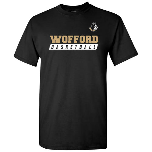 Wofford College Terriers Basketball Slant T Shirt - Black