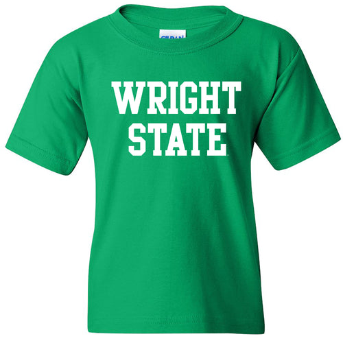 Wright State University Raiders Basic Block Youth Short Sleeve T Shirt - Irish Green