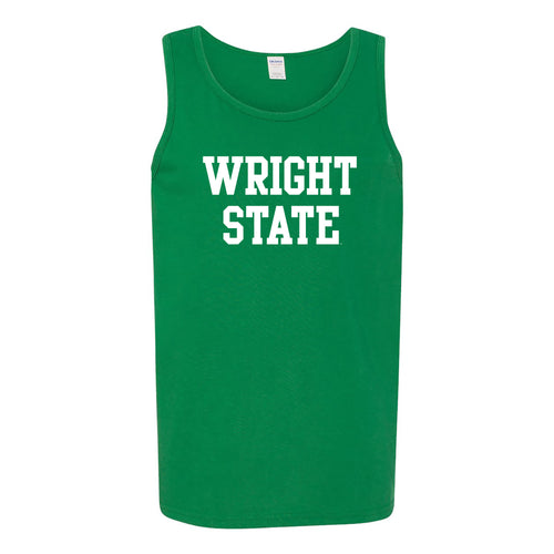 Wright State University Raiders Basic Block Tank Top - Turf Green