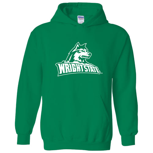 Wright State University Raiders Primary Logo Hoodie - Irish Green