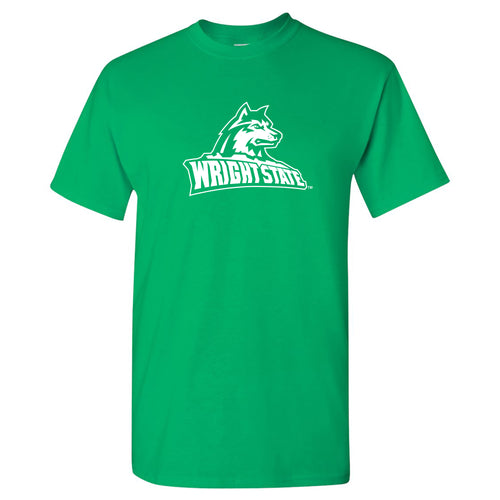 Wright State University Raiders Primary Logo Short Sleeve T Shirt - Irish Green