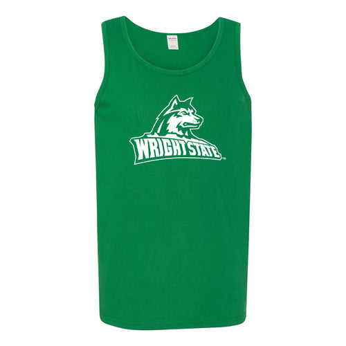 Wright State University Raiders Primary Logo Tank Top - Turf Green