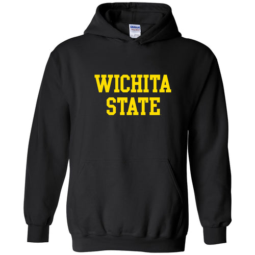 Wichita State University Shockers Basic Block Heavy Blend Hoodie - Black