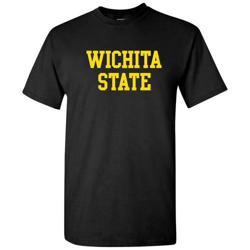 Wichita State University Shockers Basic Block Short Sleeve T-Shirt - Black
