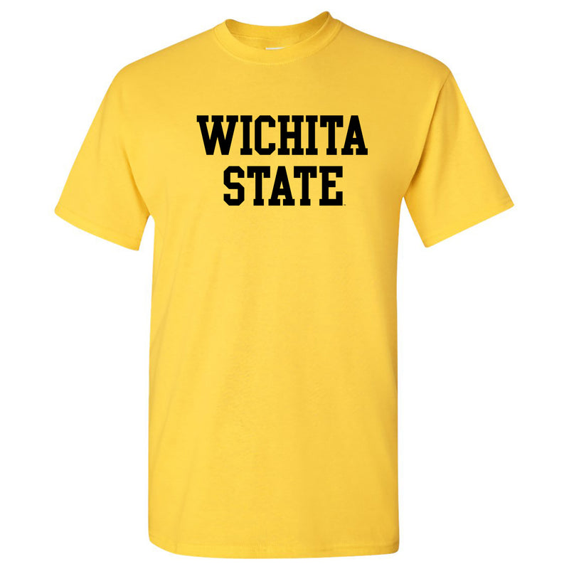 Wichita State University Shockers Basic Block Short Sleeve T-Shirt - Daisy
