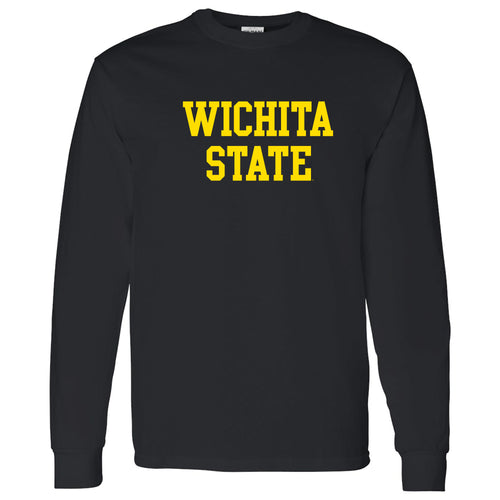 Wichita State University Shockers Basic Block Long Sleeve T-Shirt - Black