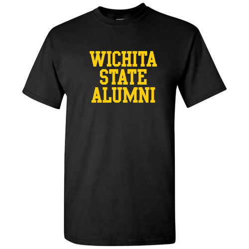 Wichita State University Shockers Alumni Block Short Sleeve T Shirt - Black