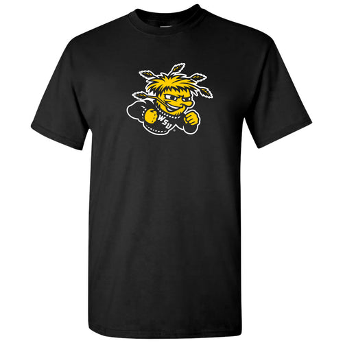 Wichita State University Shockers Primary Logo Short Sleeve T Shirt - Black
