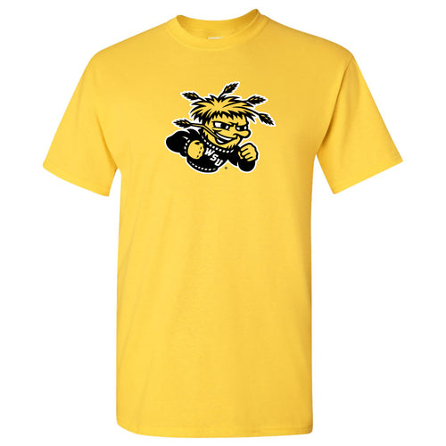 Wichita State University Shockers Primary Logo Short Sleeve T Shirt - Daisy