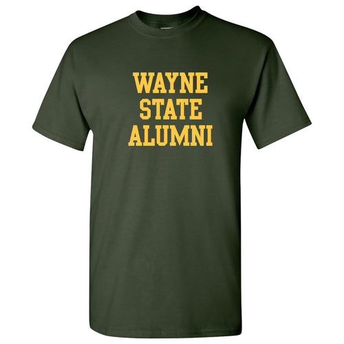 Wayne State University Warriors Alumni Block Short Sleeve T Shirt - Forest
