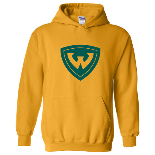 Wayne State University Warriors Primary Logo Heavy Blend Hoodie - Gold