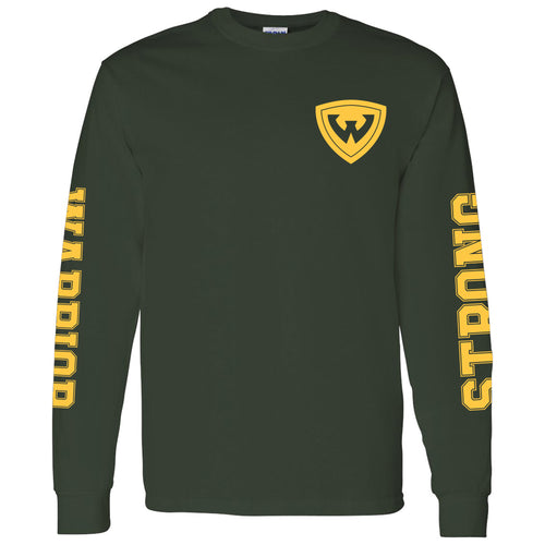 Wayne State University Warriors Double Sleeve Print Long Sleeve T-Shirt - Forest