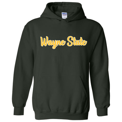Wayne State University Warriors Basic Script Heavy Blend Hoodie - Forest