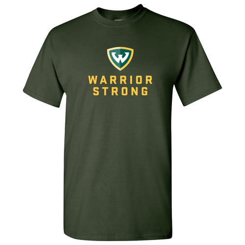Wayne State University Warrior Strong Short Sleeve T Shirt - Forest
