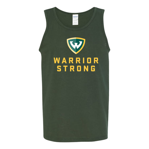 Wayne State Warrior Strong Tank Top - Forest