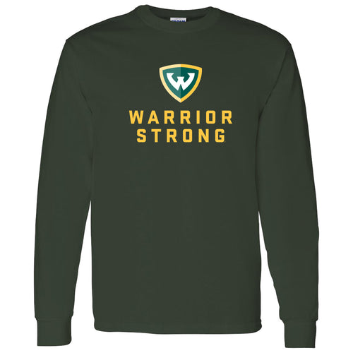 Wayne State University Warrior Strong Long Sleeve T-Shirt - Forest