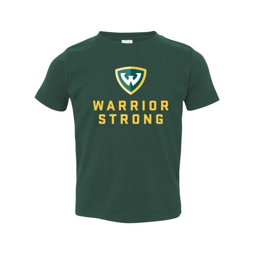 Wayne State University Warrior Strong Toddler T Shirt - Forest