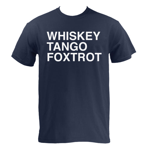 Whiskey, Tango, Foxtrot WTF Funny Humor Adult Basic Cotton T Shirt - Navy