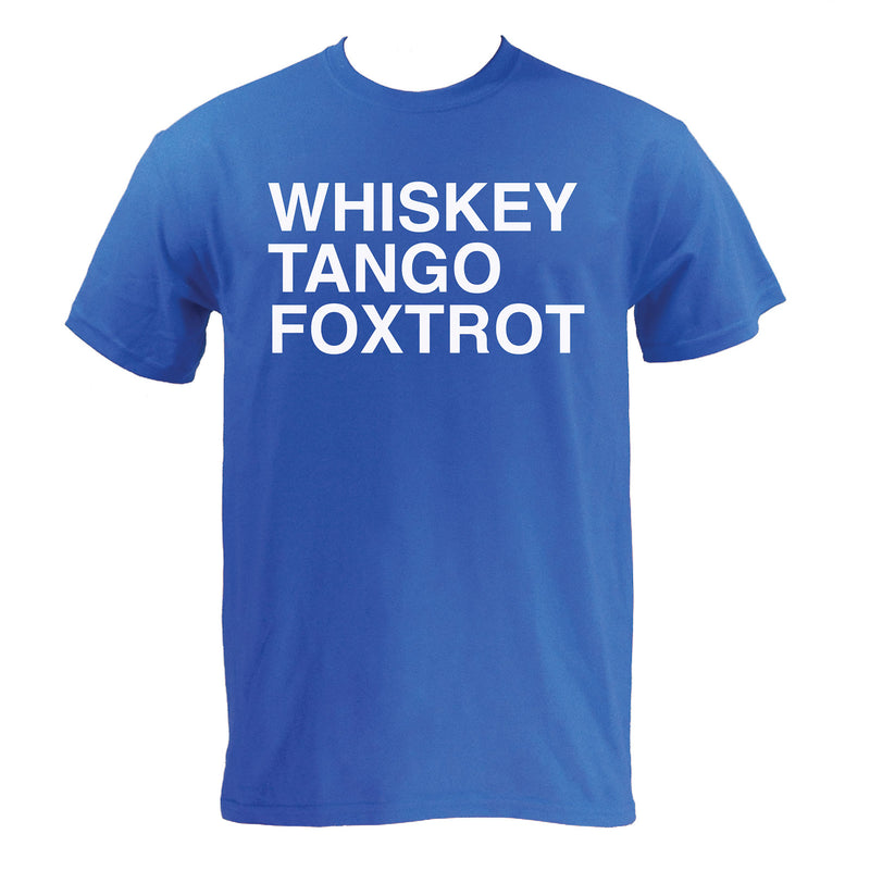Whiskey, Tango, Foxtrot WTF Funny Humor Adult Basic Cotton T Shirt - Royal