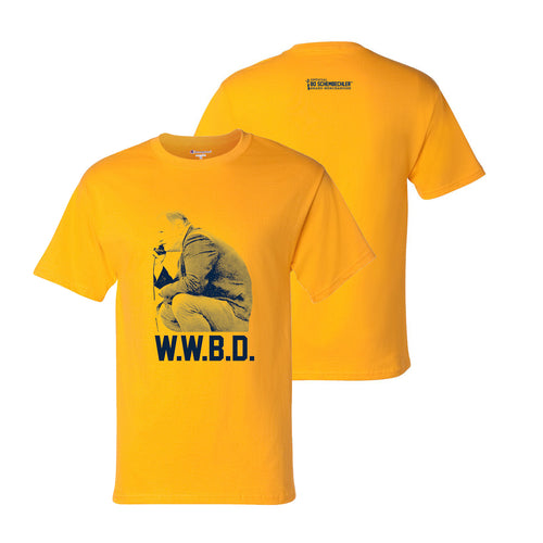 Bo Schembechler What Would Bo Do Champion T-Shirt - Gold