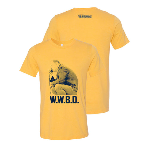 Bo Schembechler What Would Bo Do Canvas T-Shirt - Heather Yellow Gold
