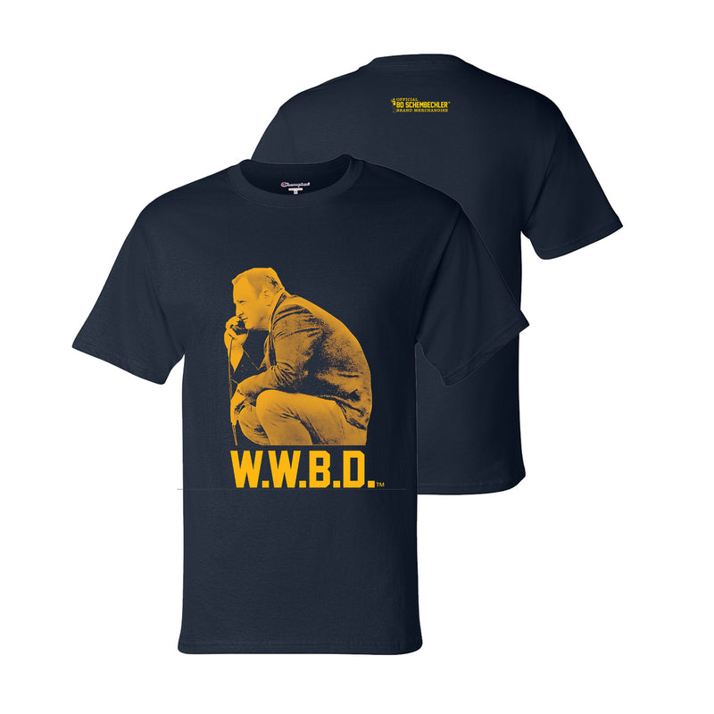 Bo Schembechler What Would Bo Do Champion T-Shirt - Navy