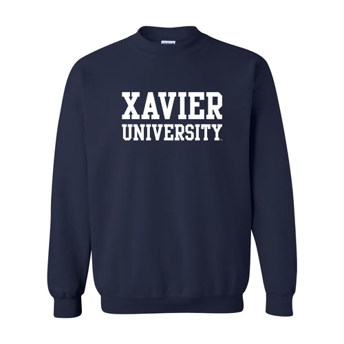 Xavier Basic Block Crewneck - Navy