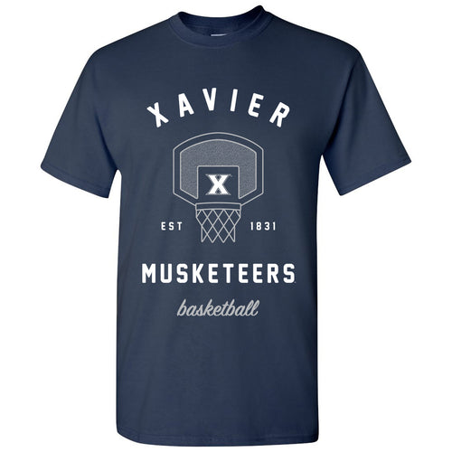 Xavier University Musketeers Basketball Net Short Sleeve T-Shirt - Navy