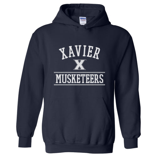 Xavier University Musketeers Mesh Arch Heavy Blend Hoodie - Navy