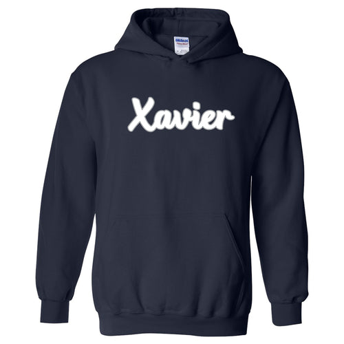 Xavier University Musketeers Basic Script Heavy Blend Hoodie - Navy