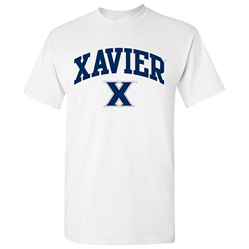 Xavier University Musketeers Arch Logo Short Sleeve T Shirt - White