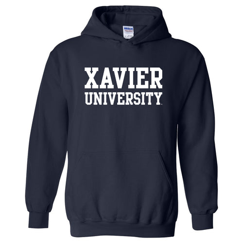 Xavier University Musketeers Basic Block Heavy Blend Hoodie - Navy