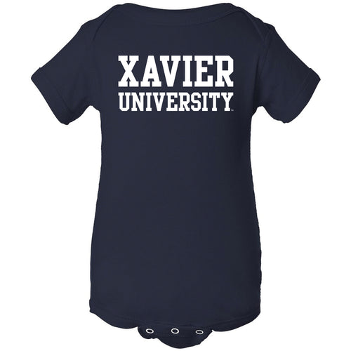 Xavier University Musketeers Basic Block Creeper - Navy