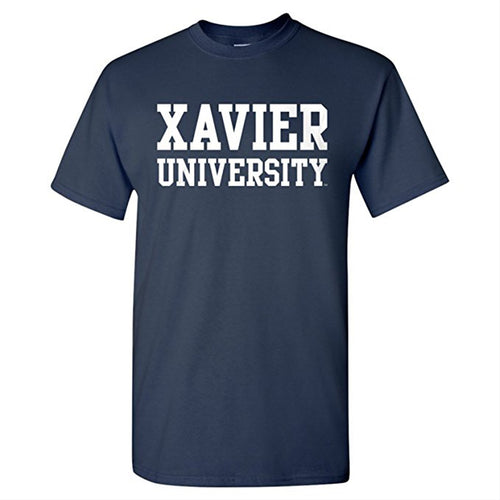 Xavier University Musketeers Basic Block Short Sleeve T Shirt - Navy