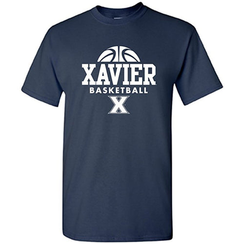 Xavier University Musketeers Basketball Hype Short Sleeve T Shirt - Navy