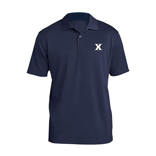 Xavier University Musketeers Primary Logo Left Chest Mens Polo - Navy