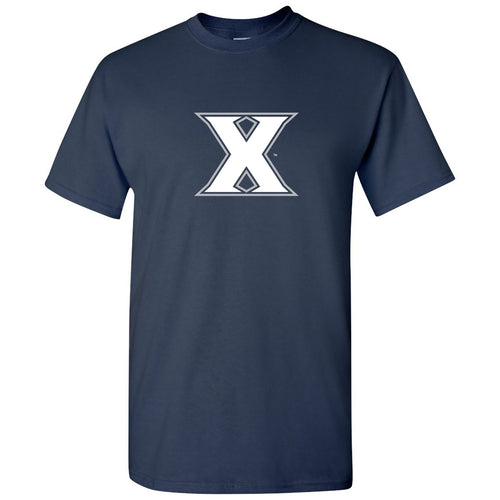 Xavier University Musketeers Primary Logo Short Sleeve T Shirt - Navy