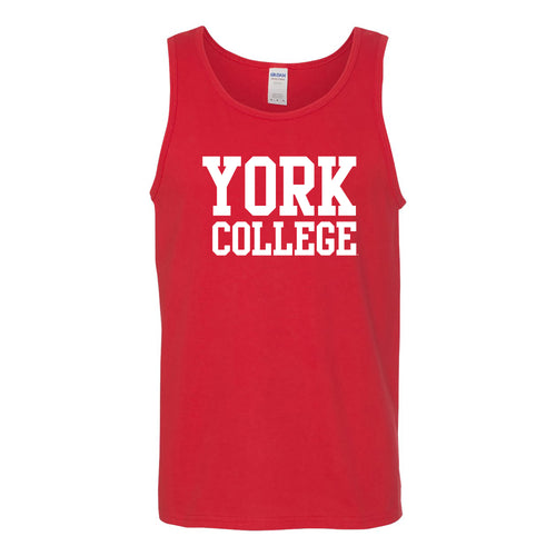 York College Cardinals Basic Block Heavy Cotton Tank Top - Red