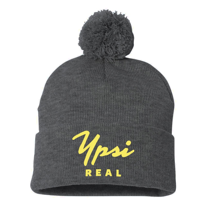 Ypsi Real Pom Hats - Charcoal