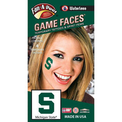 MSU Fan-A-Peel Cheek Sticker 4-Pack