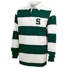 Block S Emb Rugby Polo - Forest/White