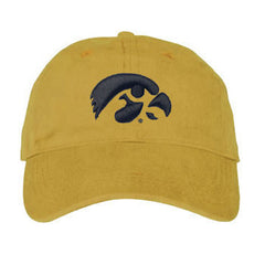Iowa Hawkeye Puff Thread Hat - Gold