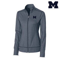 UM Cutter & Buck Wms Topspin Full Zip - Navy Blue Heather