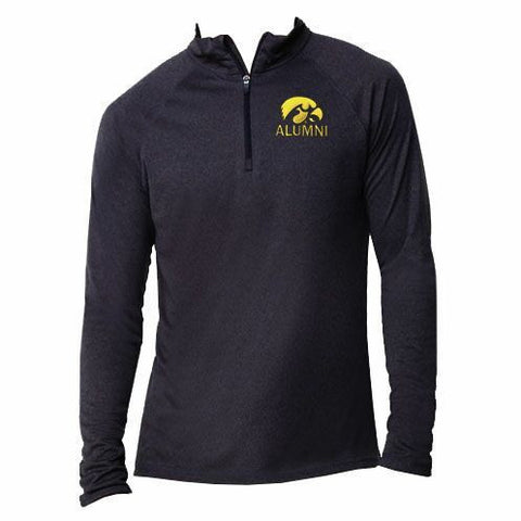 Iowa Alumni 1/4 Zip - Black